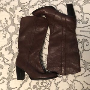 Michael Kors Brown Leather Cowboy boots